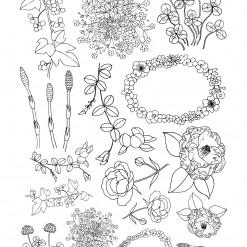 밑그림전사지/꽃손그림1