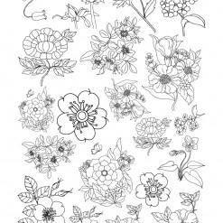 밑그림 전사 (꽃손그림3)