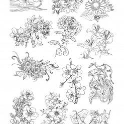 밑그림전사지/꽃손그림3