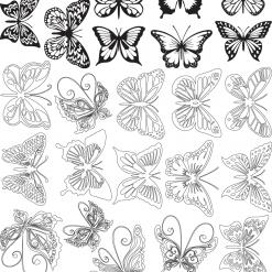 밑그림전사지/나비